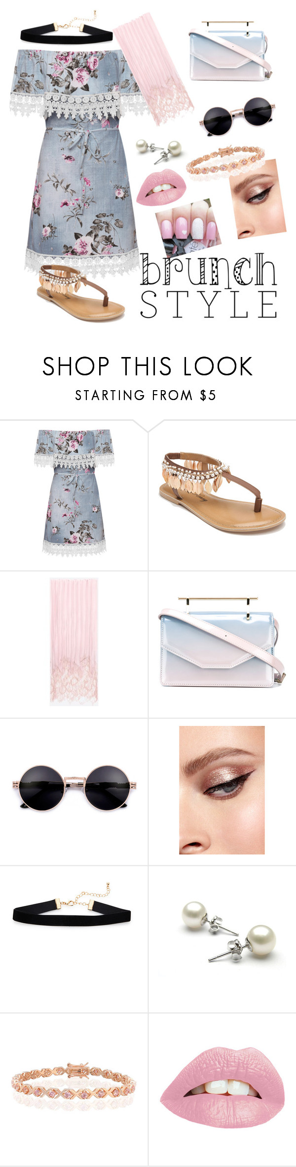 """""""floral brunch with mom"""" by flipingsquid ❤ liked on Polyvore featuring WearAll, Penny Loves Kenny, Valentino, M2Malletier and Bling Jewelry"""