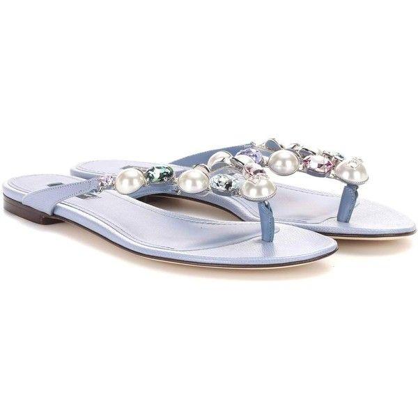 e2e9e9728d9e Dolce   Gabbana Crystal-Embellished Leather Sandals (21 675 UAH ...