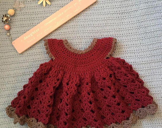 Crochet baby dress | vestiditos de regina | Pinterest | Ropa de ...