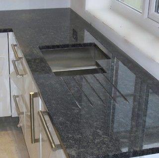 Silver Pearl Aka Steel Grey Granite Granite Countertops Kitchen Grey Granite Countertops Leather Granite
