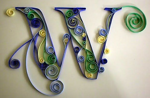 Quilling letters even more quilled letters quilling crafts quilling letters even more quilled letters altavistaventures Images