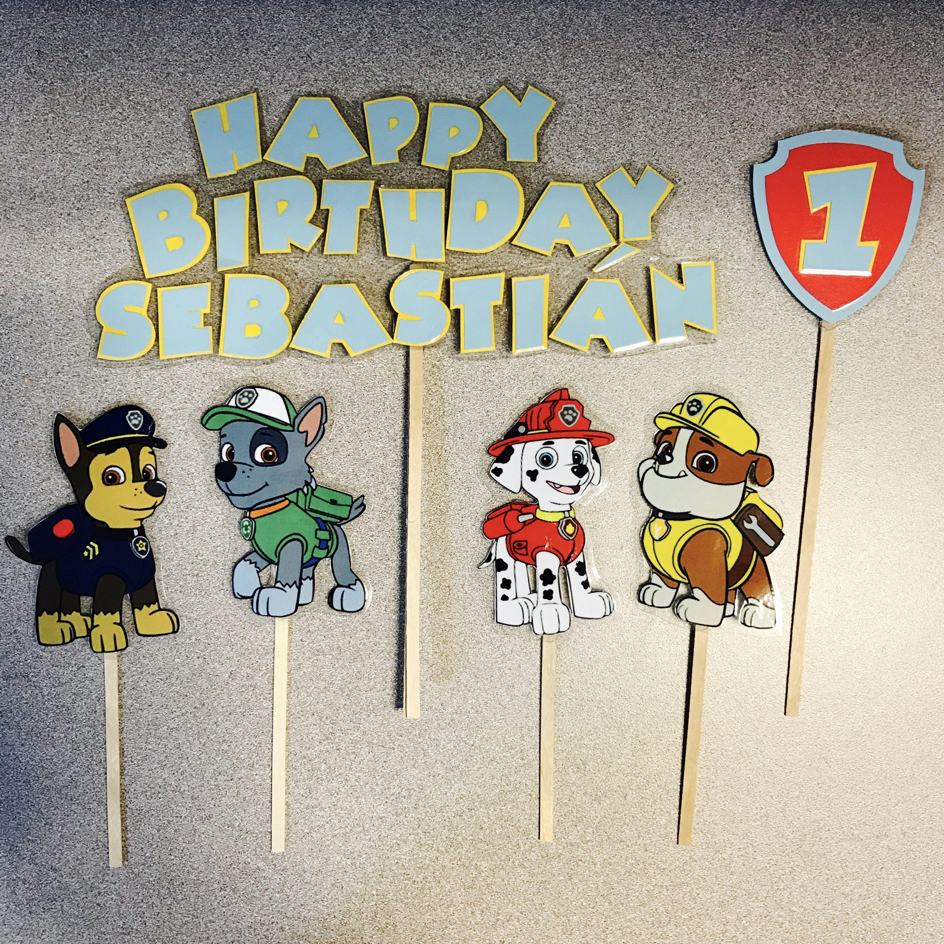 Paw patrol 1st birthday cake toppers 1st birthday cake