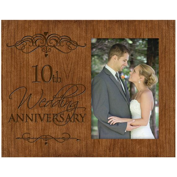 Personalized 10th Golden Wedding Anniversary Picture Frame Gift Cherry Photo Frame Wedding Anniversary Photos Anniversary Photos Wedding Anniversary Pictures