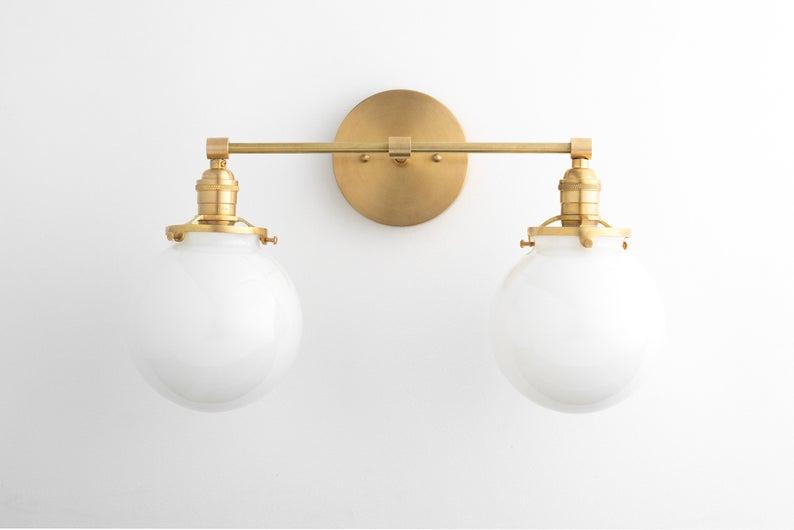 Bathroom Lighting Vanity Light, Bathroom Vanity Light Globes
