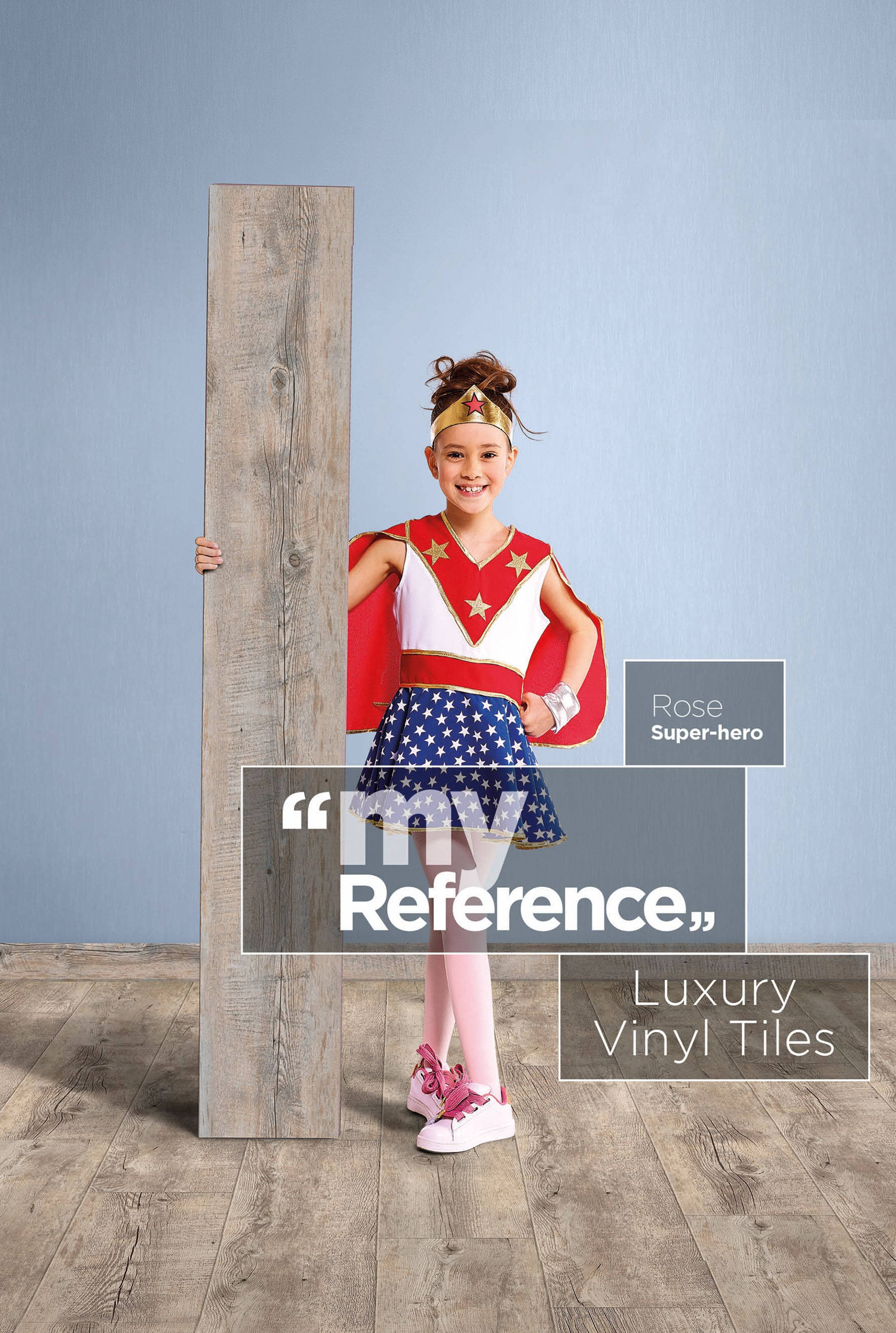 You don't have to be a superhero to benefit from the creative designs and textures of our Luxury Vinyl Flooring!  This is Rose's reference, what's yours? #MyReference