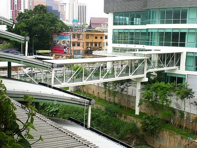 Malaysia Elevated Pedestrian Walkway Tunnel Pedestrian Walkway Walkway Pedestrian