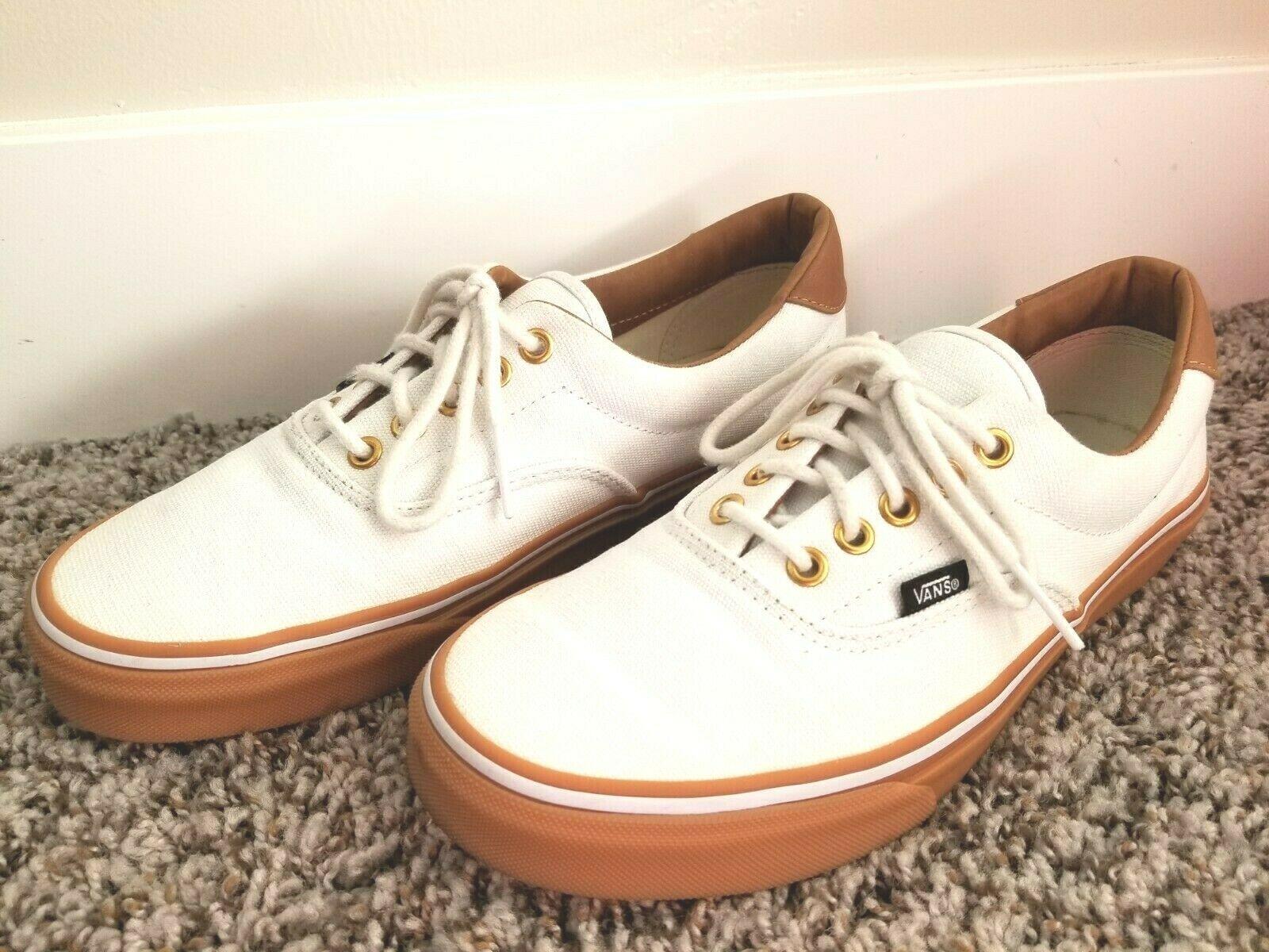 White canvas shoes, Vans