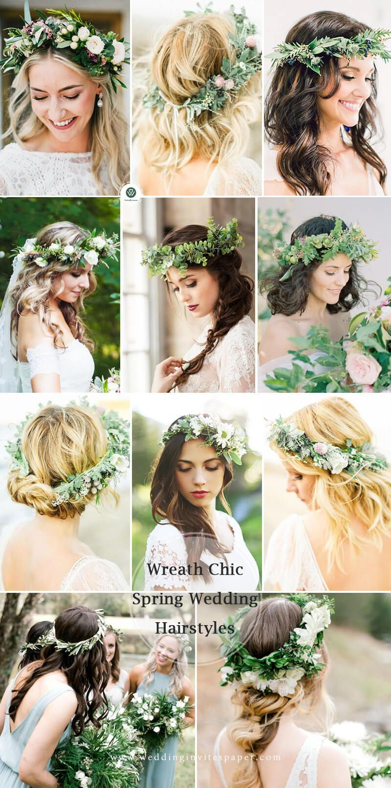 55 Glamorous Wedding Hairstyles For Spring Time Brides Wedding Hair Flower Crown Country Wedding Hairstyles Glamorous Wedding Hair