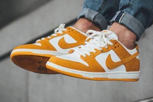 nike sb schiacciare basso circuito arancione da scarpe
