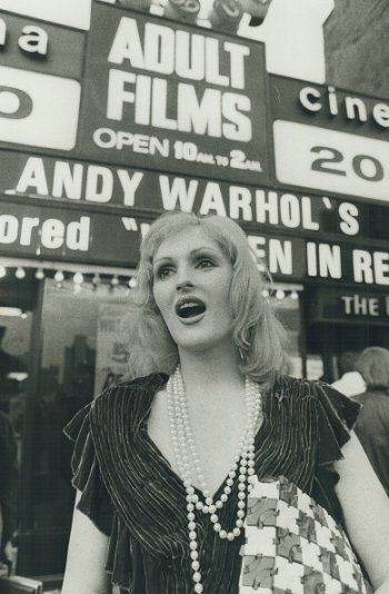 Candy Darling at the Premiere of her movie Women in Revolt in New York, photographed by Ron Bull, 1972