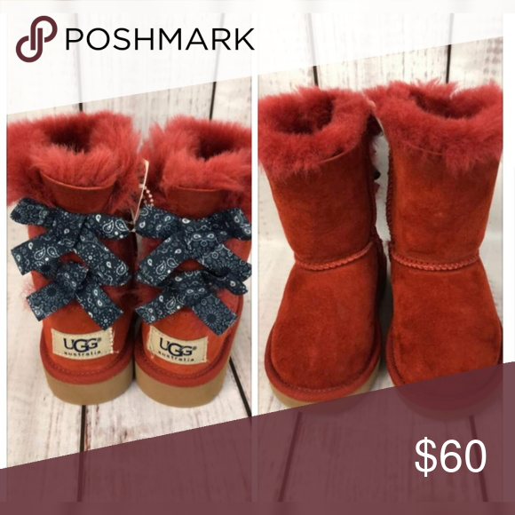 7bd4c28b86b9d UGG boots Toddler uggs with bows. Gorgeous style Very Good condition ...