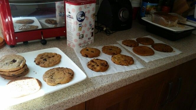 Ginger cookies with dark chocolate chips and hazelnut :)
