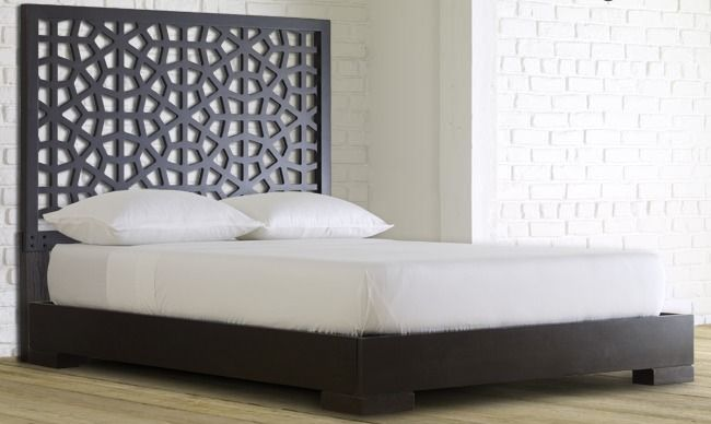 Morocco Headboard + Chunky Wood Bed Frame