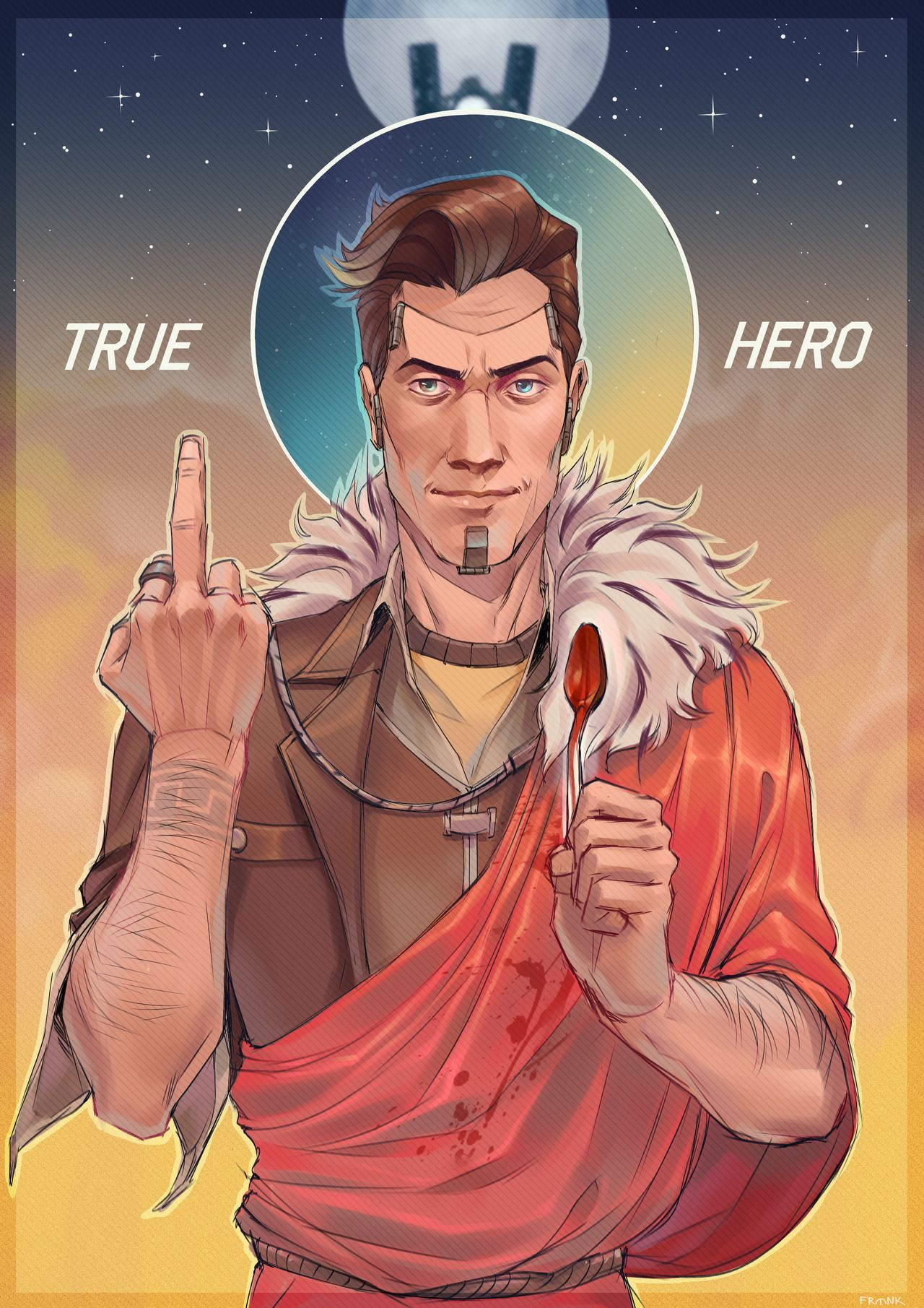 Frank 7 9 Borderlands Art Handsome Jack Borderlands