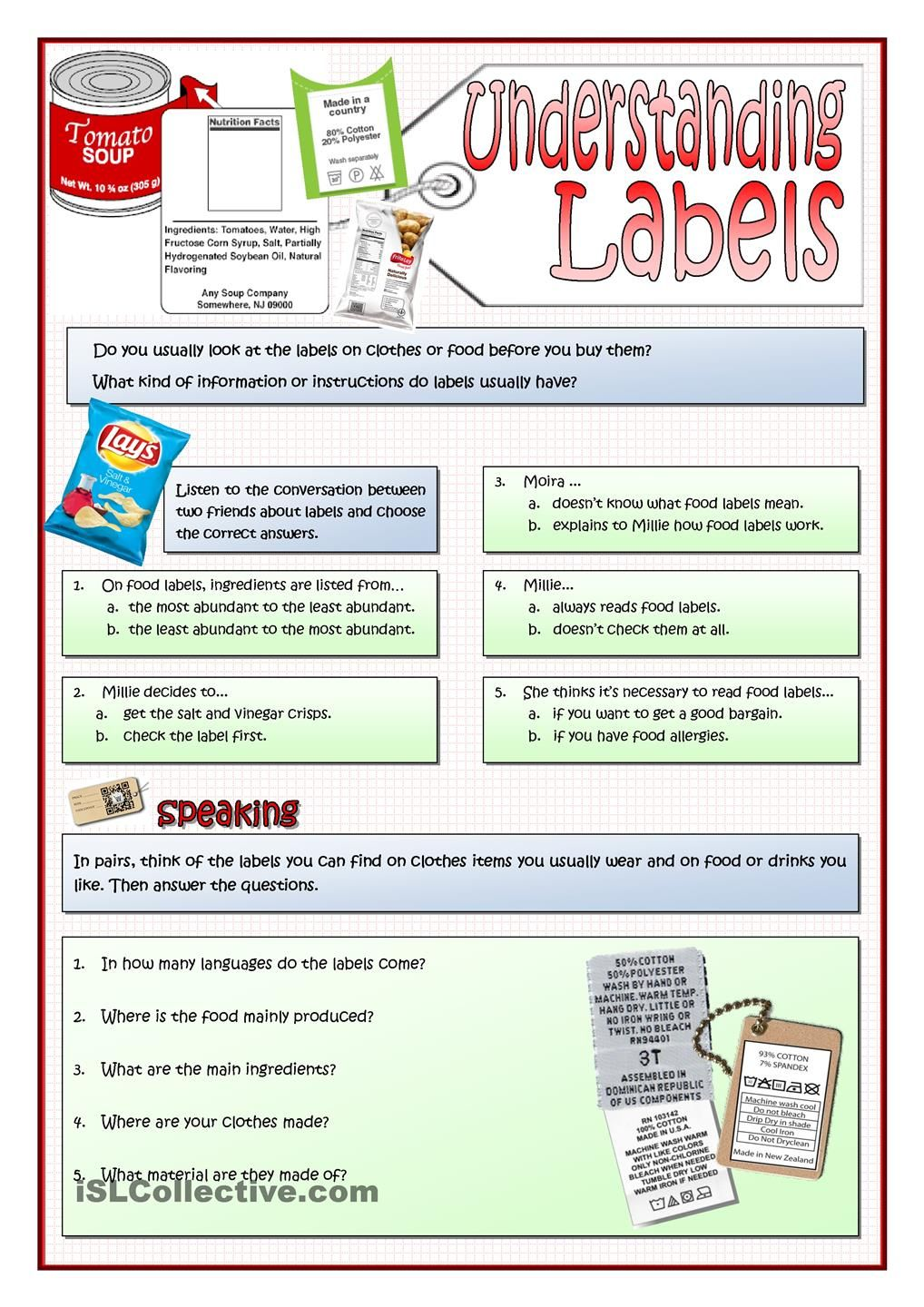 Understanding Labels Advanced Vocabulary Reading Worksheets Vocabulary Posters