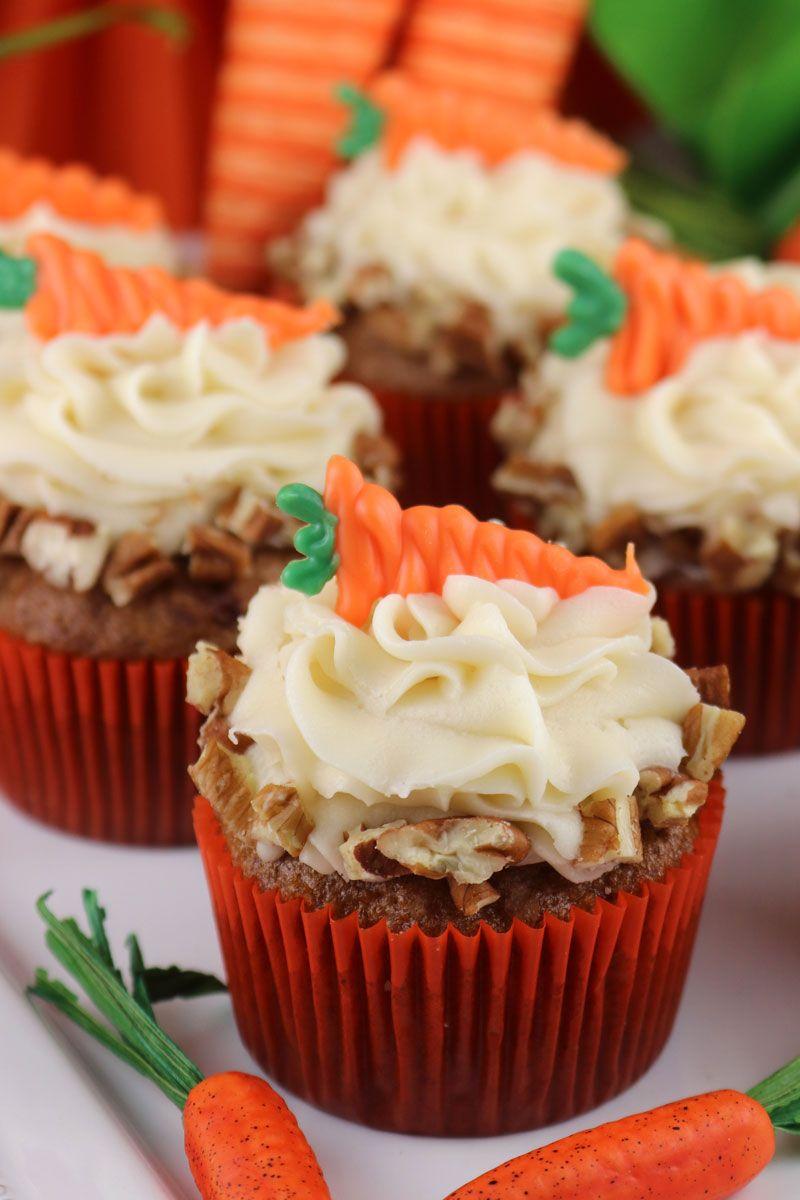 Carrot Cake Cupcakes Recipe Carrot Cake Cupcakes Easter