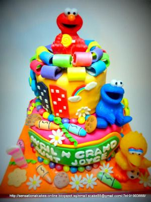 Sesame Street 3d Cake Singapore Big Bird Elmo Cookie