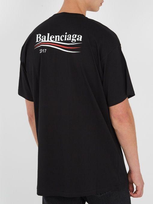 061ba7a2fbdc Balenciaga Logo-print T-shirt | Style library in 2019 | Balenciaga ...