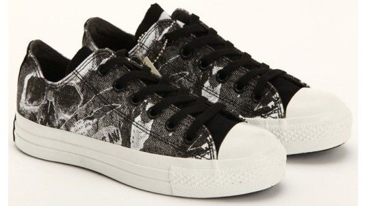 0f9cb85938cc Converse Shoes Black Dereo-White Skull Limited Edition Chuck Taylor Canvas  Sneakers Low Tops -