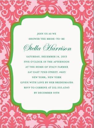 Google Image Result for http://www.sweetpeasandstilettos.com/wp/wp-content/uploads/spring-damask-pink-green-bridal-shower-invitations.jpg
