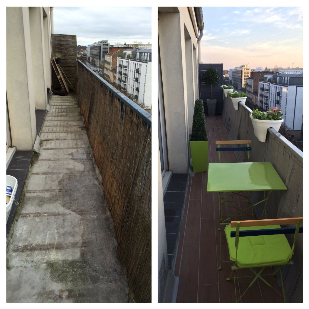 Balcon Etroit Avant Apres Deco Balcon Balcon Etroit Deco Appartement