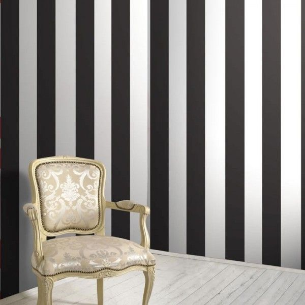 Grey Black White Striped Wallpaper Google Search
