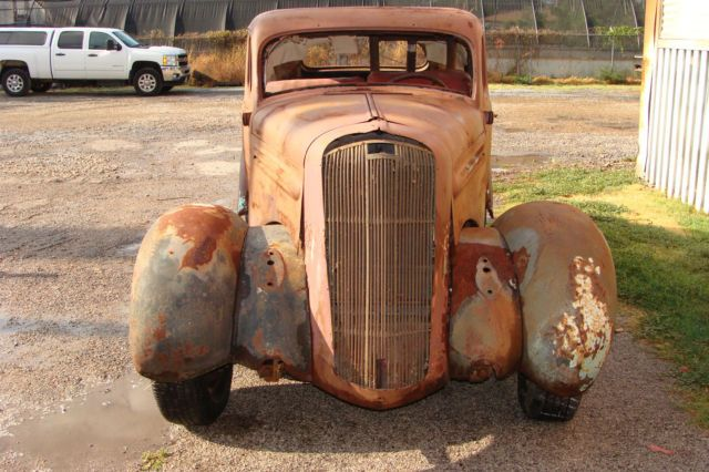 Cars 1936 PLYMOUTH DELUXE 5 WINDOW COUPE 1960S BARN FIND RAT ROD DALLASTEXAS