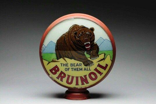 Original Bruinoil Gas Pump Globe