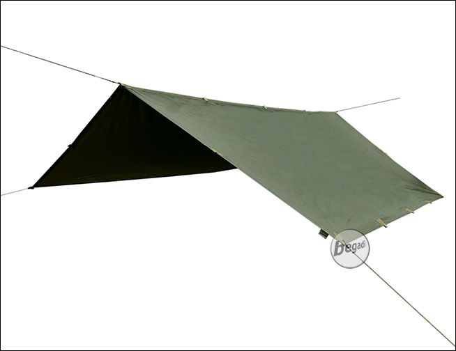 BE X Ranger II Tarp, Reflective Edition, 290x290cm olive