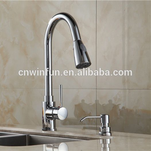 Cheap Long Neck Retractable Kitchen Faucet Pull Out Down Kitchen