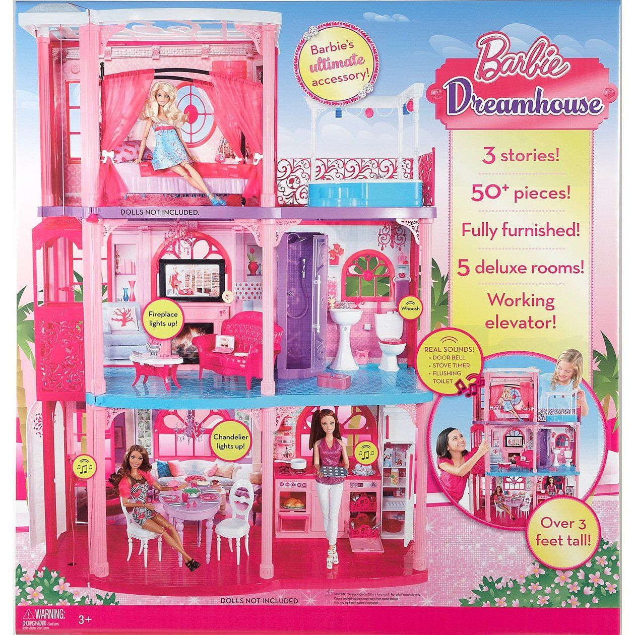 Barbie Dreamhouse Dream House By Mattel 3 Story Townhouse Brand New In Box