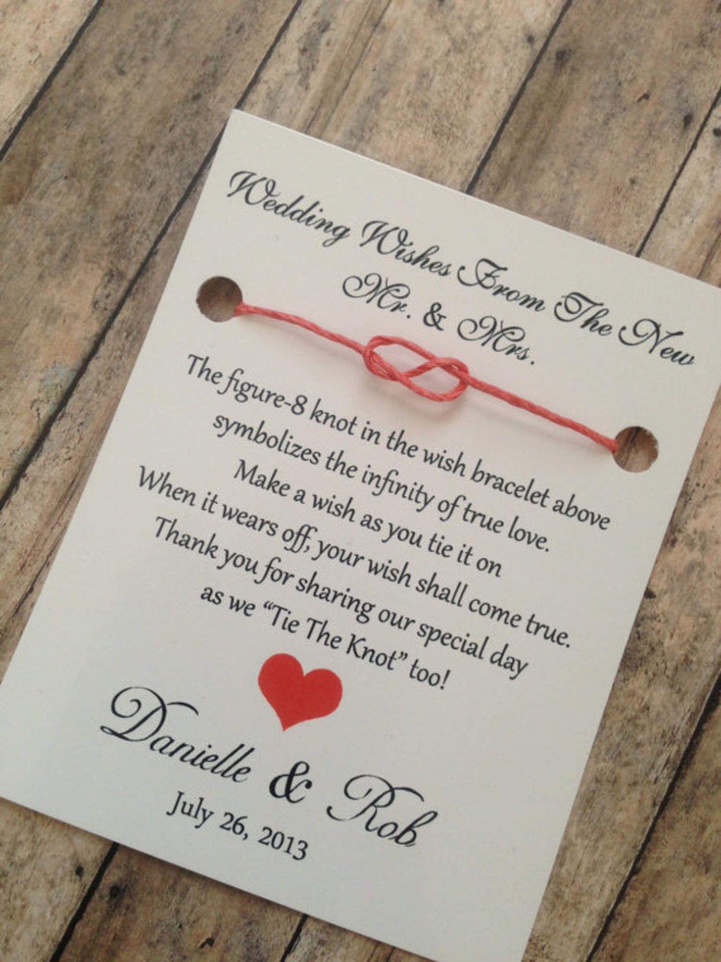 100 Wedding Favors - Wishes From The New Mr. & Mrs.- Wedding Favor ...