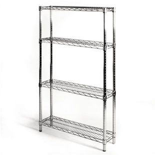 8 D X 30 W Wire Shelving With 4 Shelves The Shelving Store Wire Shelving Wire Shelving Units Shelves