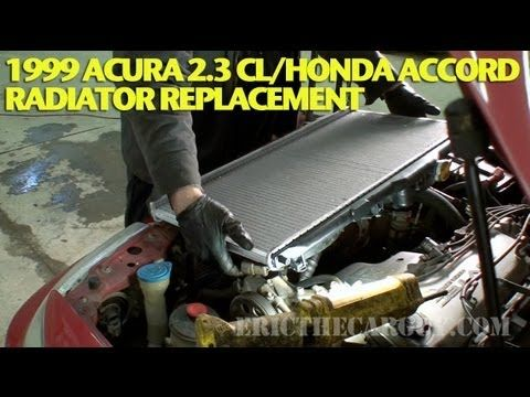 How To Replace A Radiator 1999 Acura 2 3 Cl Accord Ericthecarguy Acura Radiators Repair