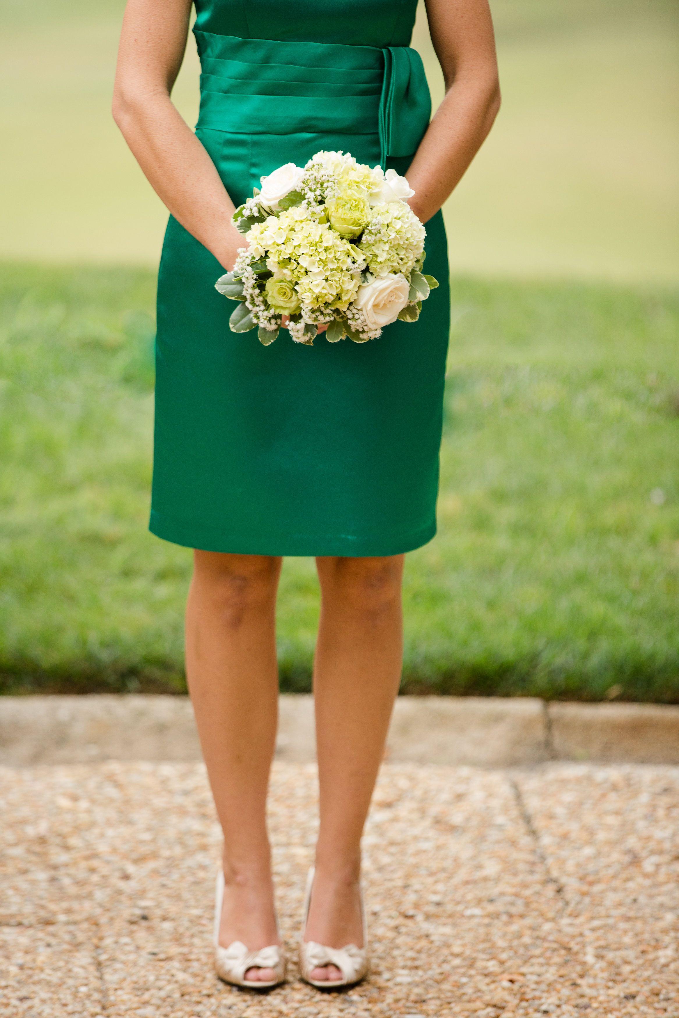Emerald wedding dress  Devin  Willus wedding  Donna Morgan Real Wedding  Photos by