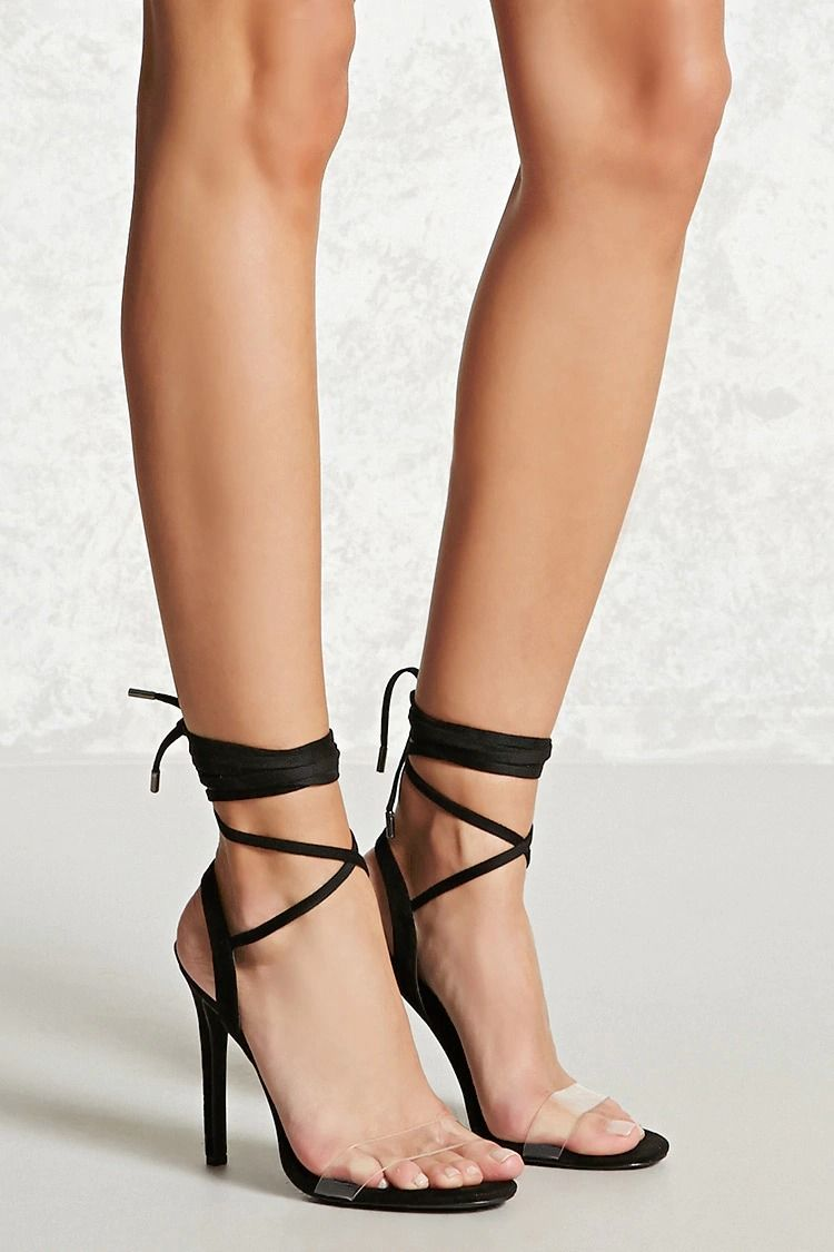 Forever 21 Faux Leather & Translucent Heels
