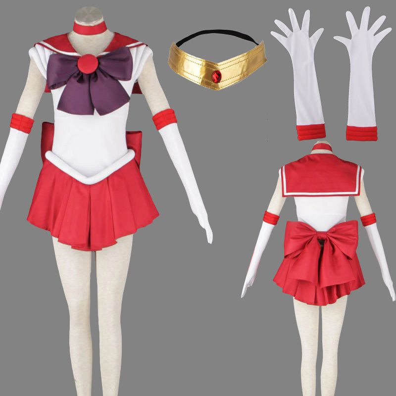 eFunLive - Sailor Moon Rei Hino/Sailor Mars anime cosplay costume suit  party, $45.51
