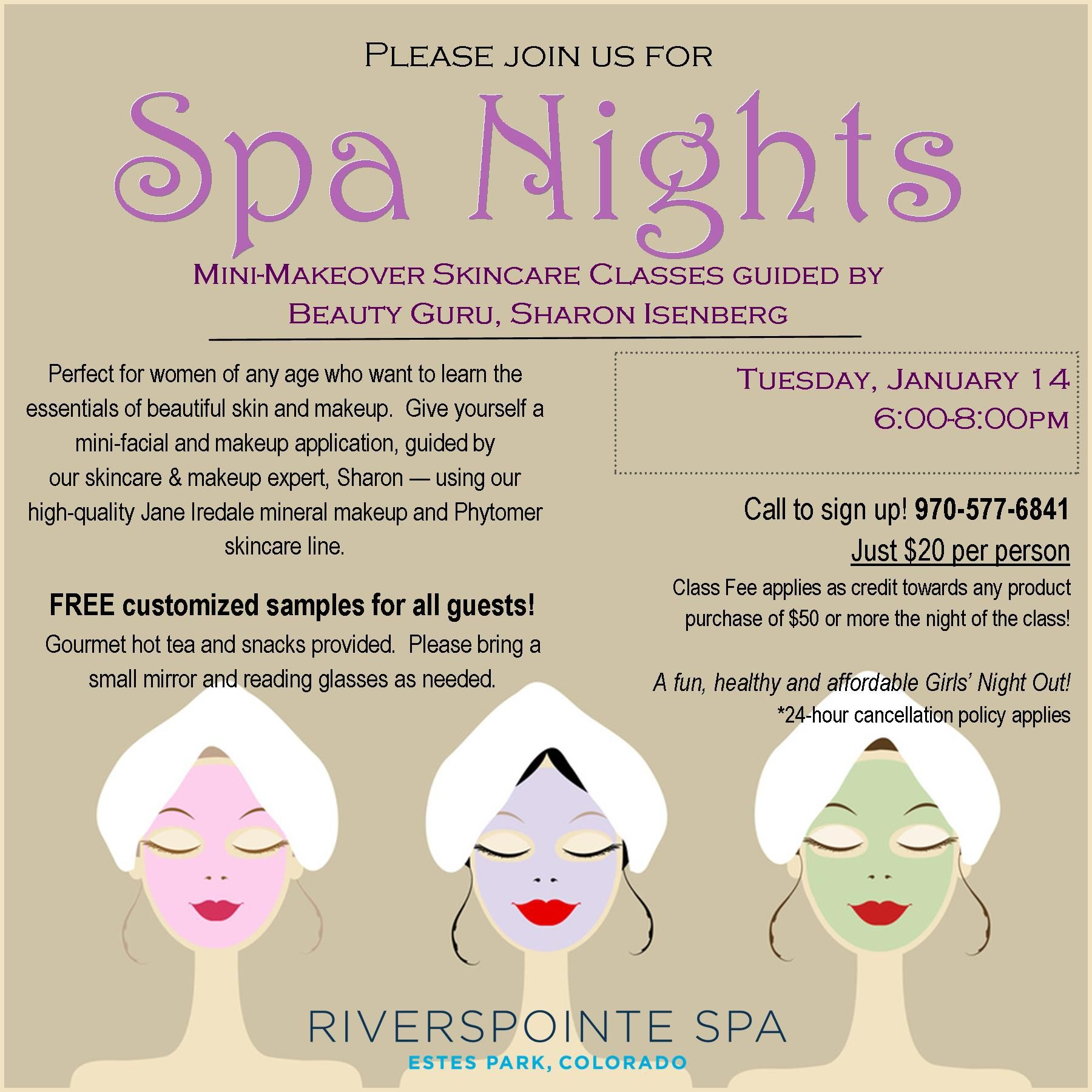 Join us for January Spa Night!   Your Spa   Pinterest   Spa night