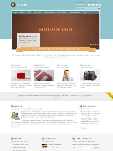 Capacity WordPress Theme for Portfolio | Premium Joomla Templates ...