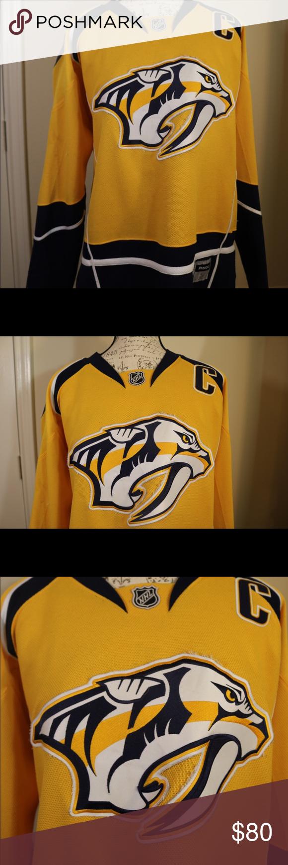 d15695b68a6 Nashville Predators hockey NHL jersey Reebok nashville Predators hockey  Reebok NHL men's size small lightly used mike Weber #6 NHL Shirts Tees -  Long Sleeve