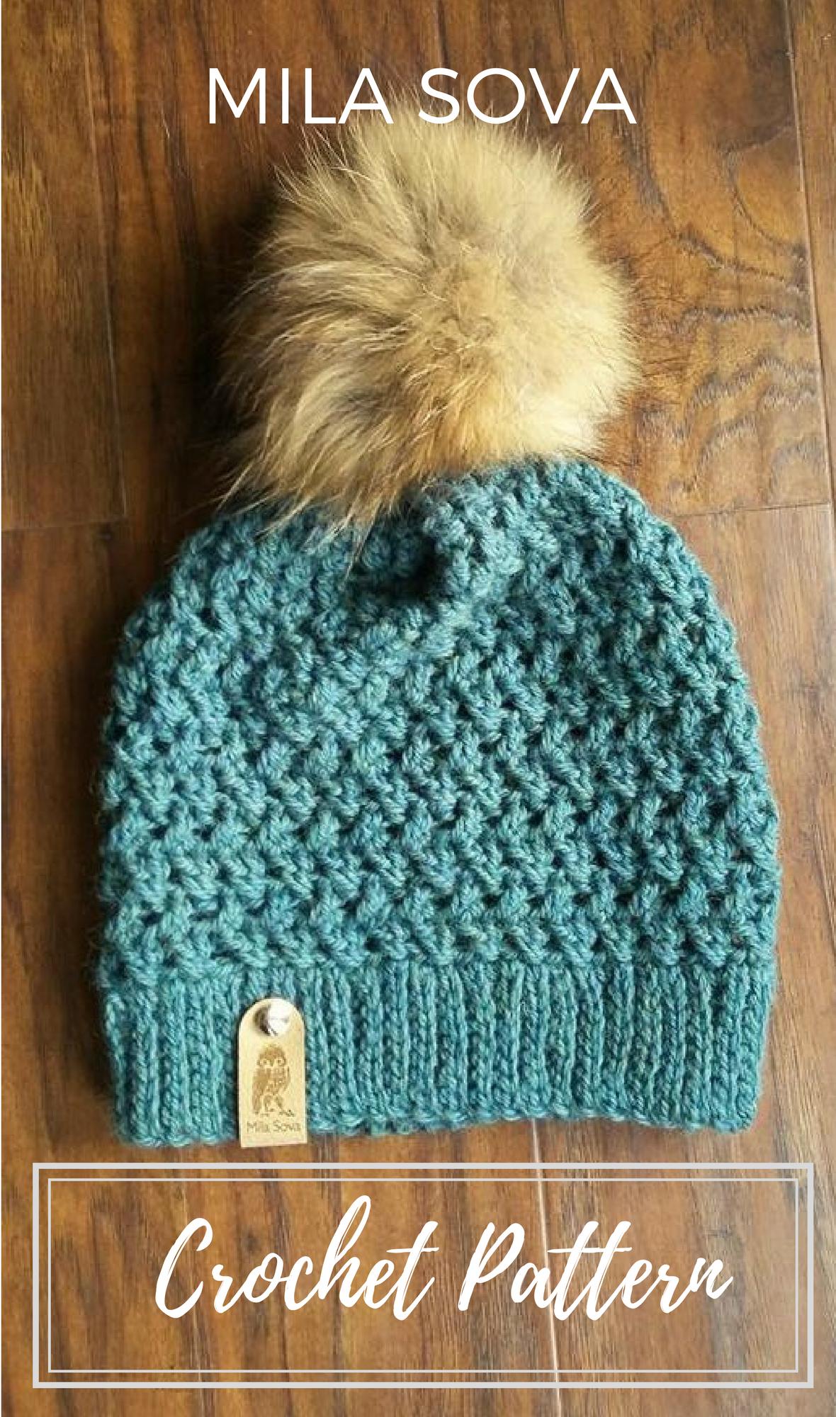 Nº101 Crochet Slouchy Beanie - Crochet PATTERN   Stricken häkeln ...