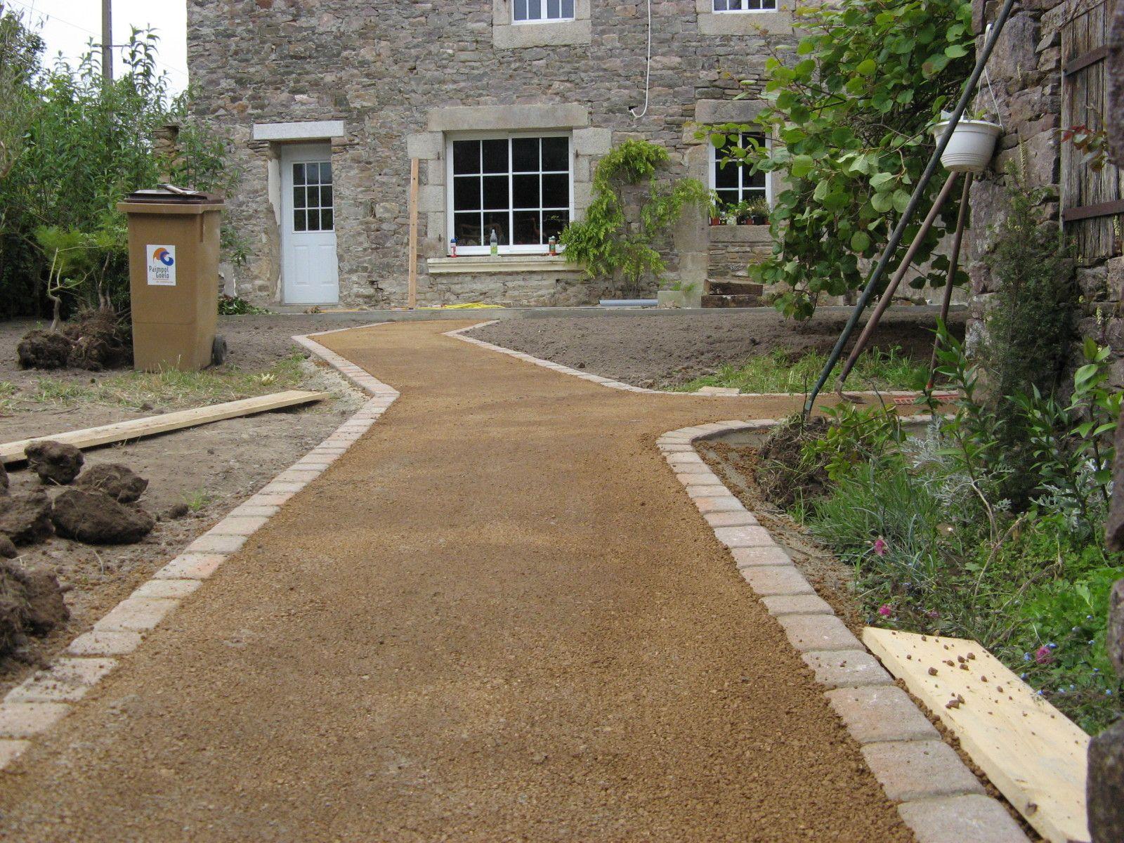 Dalle Beton Pour Allee création d'une allée en grou et d'une dalle béton | garden