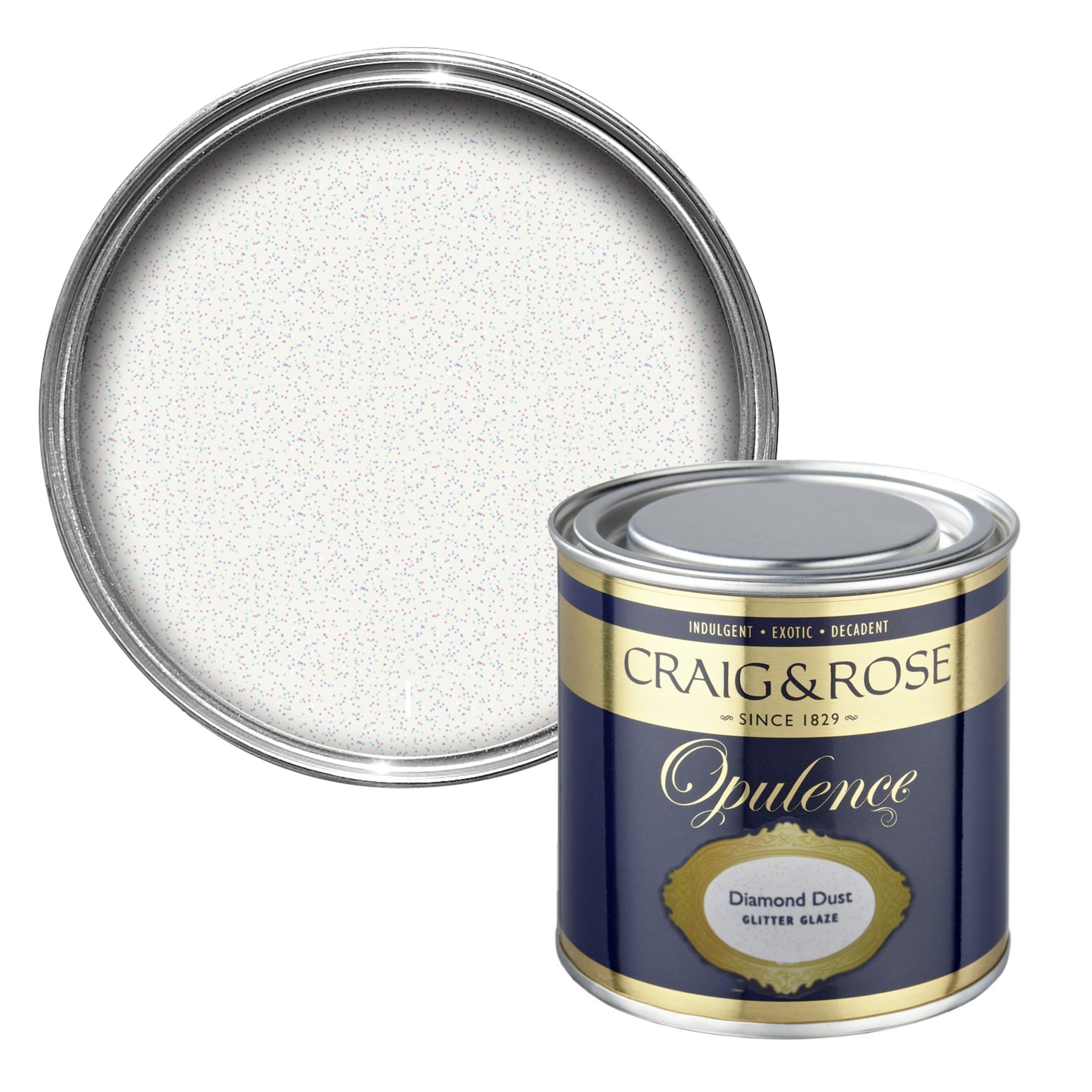 Craig Rose 1829 Kitchen Bathroom Paint: Craig & Rose Opulence Diamond Dust Glitter Effect Special
