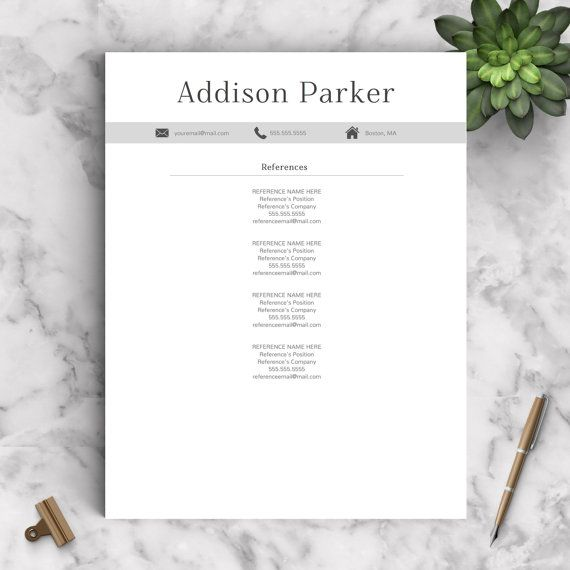 Professional Resume Template For Word And Pages   And   Cv