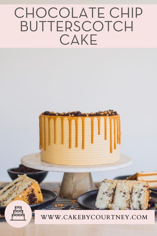 Chocolate Chip Butterscotch Cake Cake By Courtney Recipe In 2021 Butterscotch Cake Chocolate Chip Cake Cake