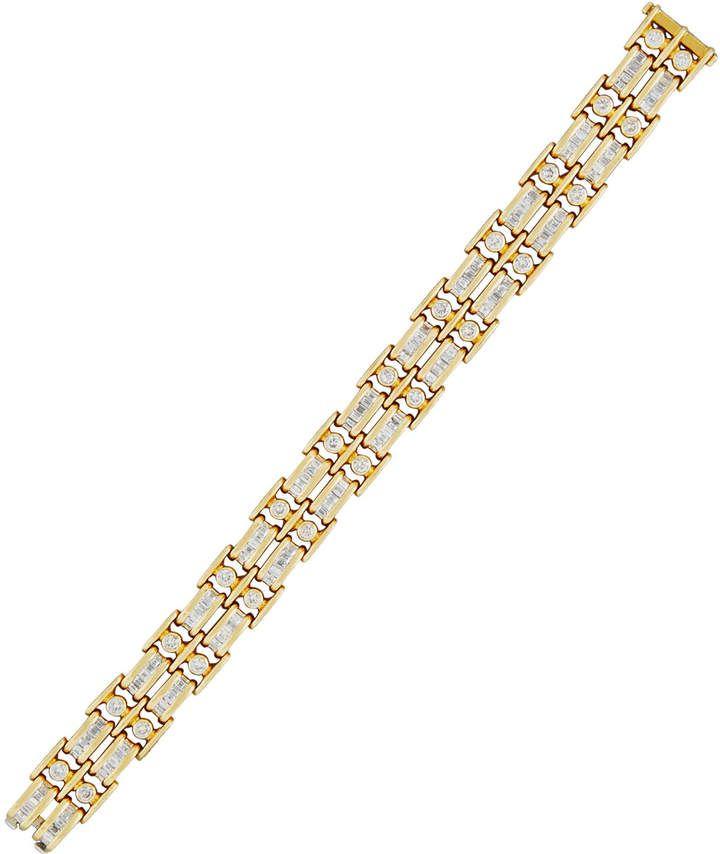 Diana M. Jewels 18k Double-Row Channel-Set Diamond Tennis Bracelet, 7.5tcw