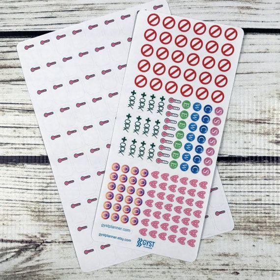Fertility Stickers / TTC Stickers / Fits Erin Condren