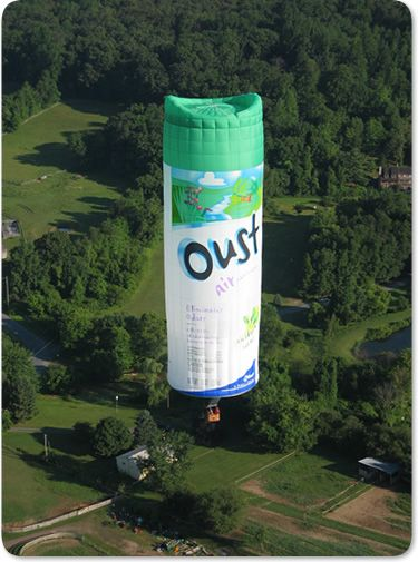 Wow, now that's a funny hot air balloon!