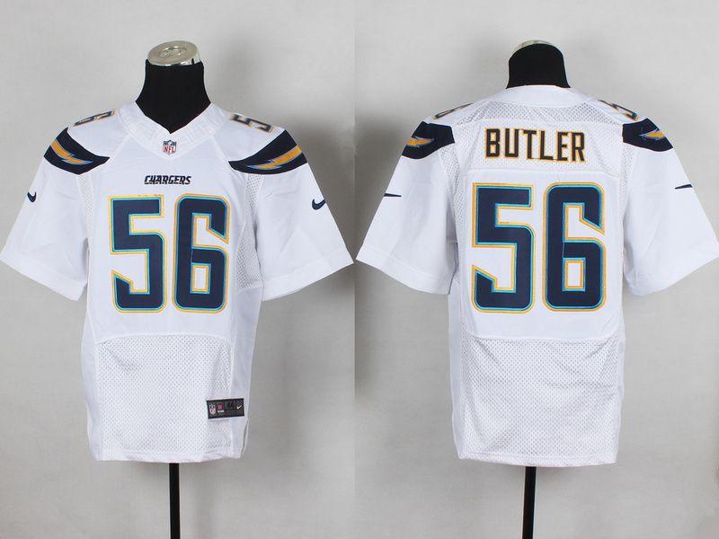 Men's San Diego Chargers #43 Branden Oliver 2013 Nike White Elite Jersey