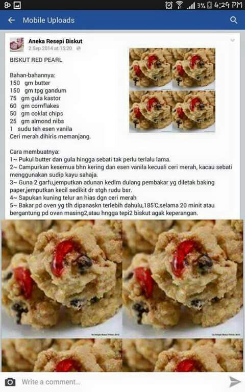 Biskut Red Pearl Yummy Cookies Biscuit Recipe Homemade Recipes